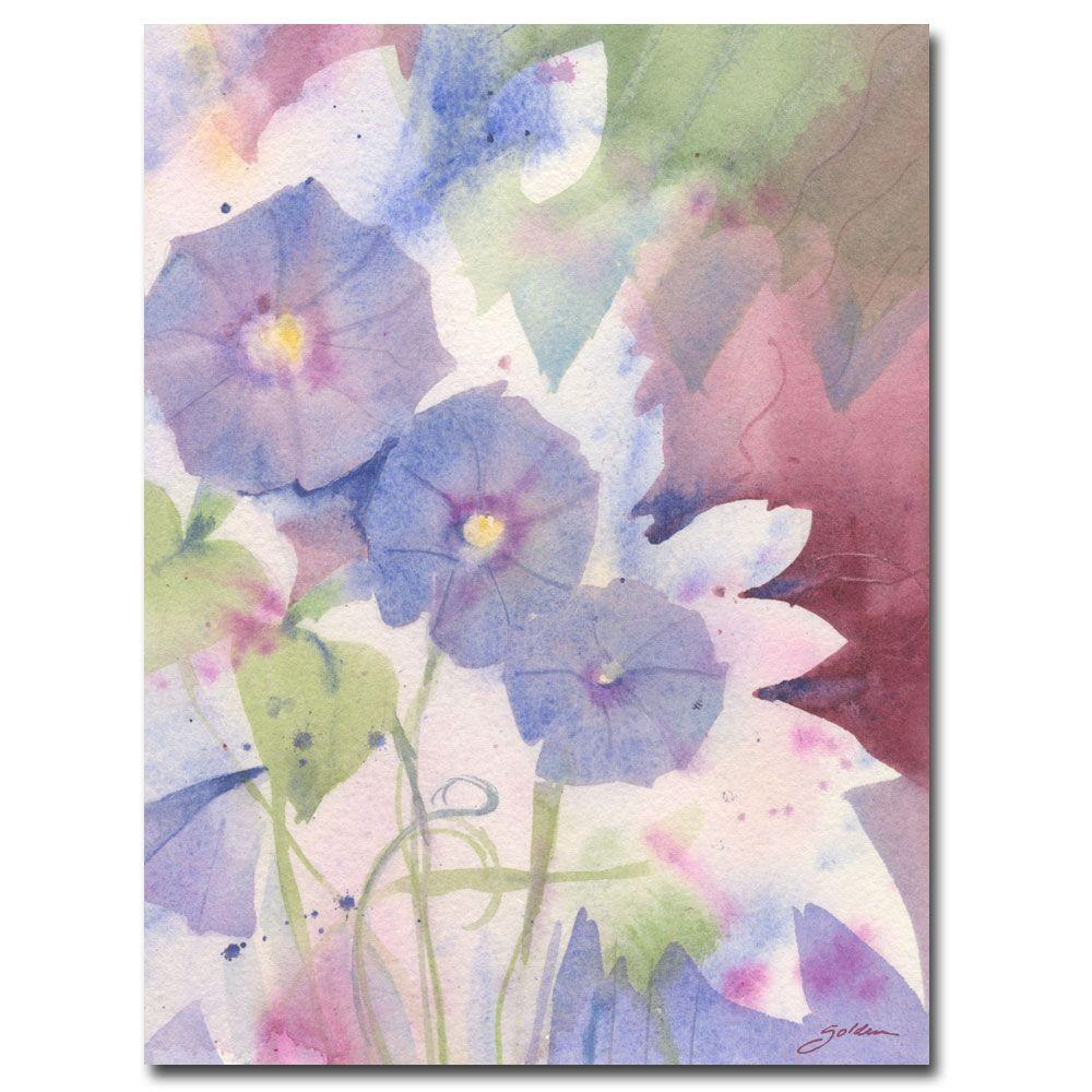 null 18 in. x 24 in. Morning Glory Canvas Art