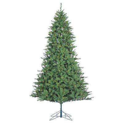 7.5 ft. Indoor Pre-Lit LED Allegheny Pine Artificial Christmas Tree with 600 Color Changing Lights