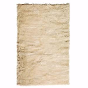 Home Decorators Collection Faux Sheepskin Beige 8 Ft X 11 Ft Area Rug 5248240420 The Home Depot