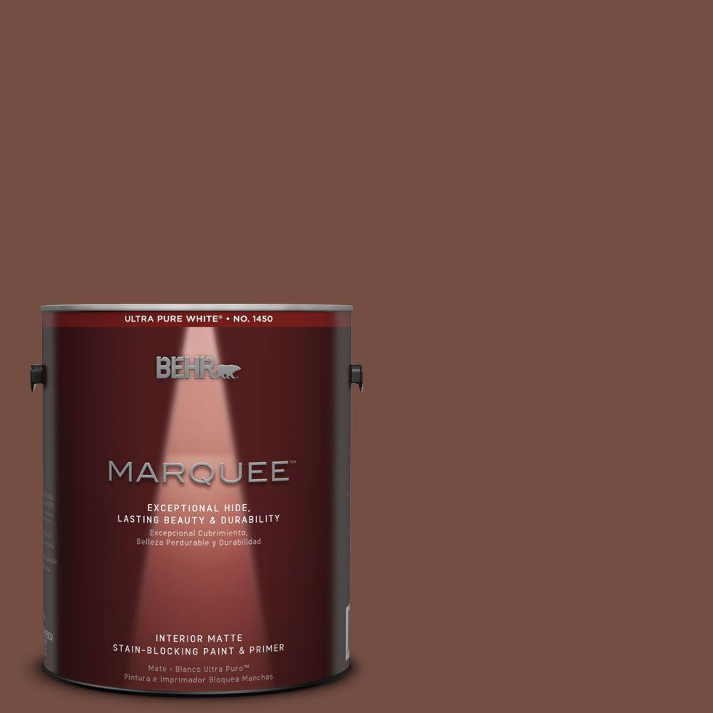 BEHR MARQUEE 1 gal. #MQ1-62 Leather Clutch One-Coat Hide Matte Interior Paint