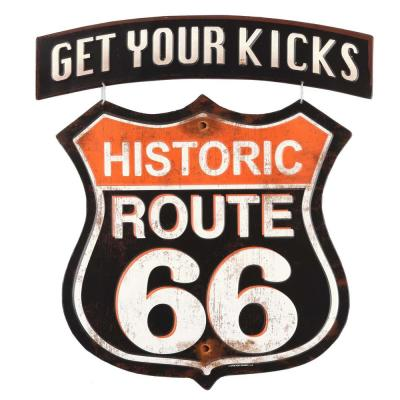 Route 66 Get Your Kicks Linked Embossed Decorative Sign