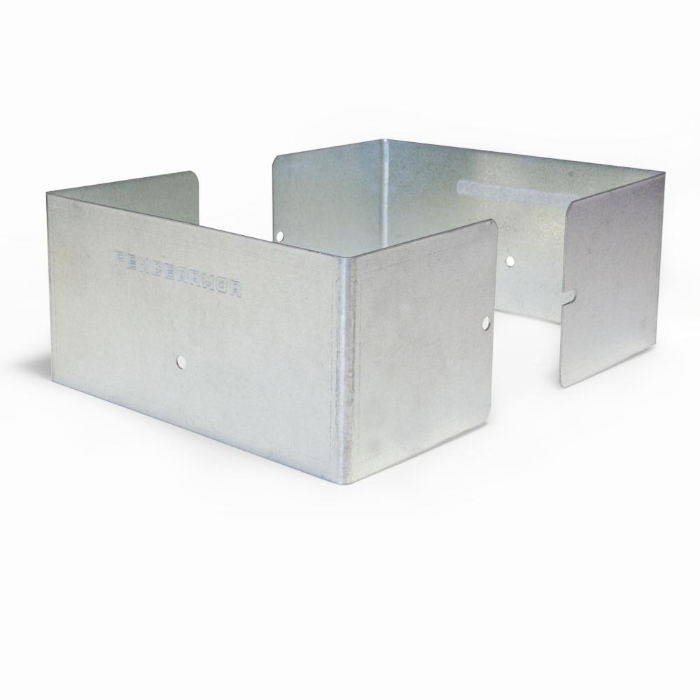 Fence Armor Galvanized Steel Fence Post Guard 5.5 In. L X