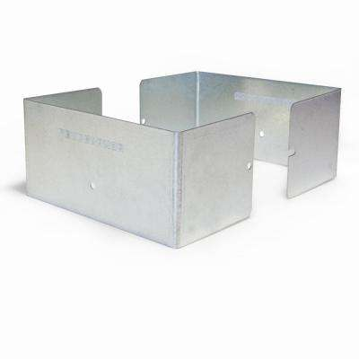 Galvanized Steel Fence Post Guard 5.5 in. L x 5.5 in. W x 3 in. H for Wood