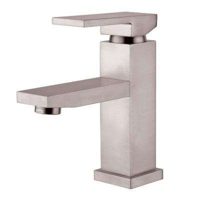 Dana Single Hole Single-Handle Bathroom Faucet in Brushed Nickel