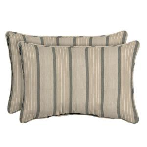 Sunbrella Cove Pebble Oversized Lumbar Outdoor Throw Pillow (2-Pack)