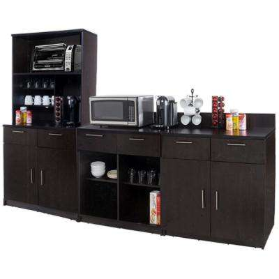 Coffee Kitchen Espresso Sideboard with Lunch Break Room Functionality with Assembled Commercial Grade 3395