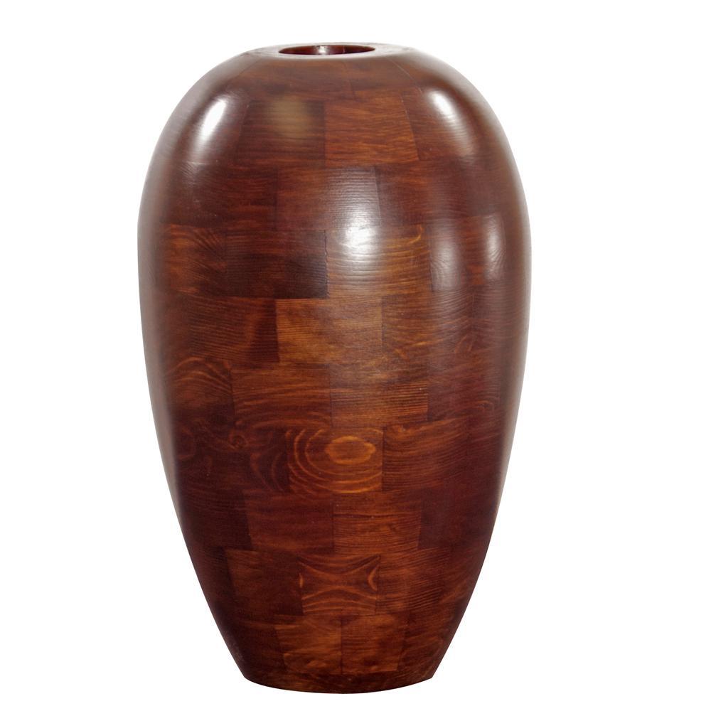 Design Large Vases mahogany wood decorative vase large 54027 the home depot null large