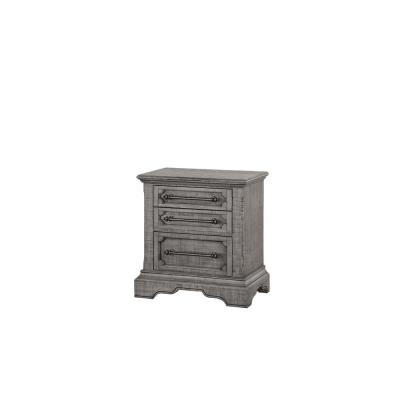 Amelia 3-Drawer 17 in. x 28 in. x 29 in. Salvaged Natural Wood Nightstand