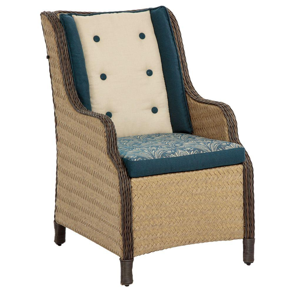 Bombay Outdoors Princeville Patio Wing Chair with Zanzibar Cushion A 99