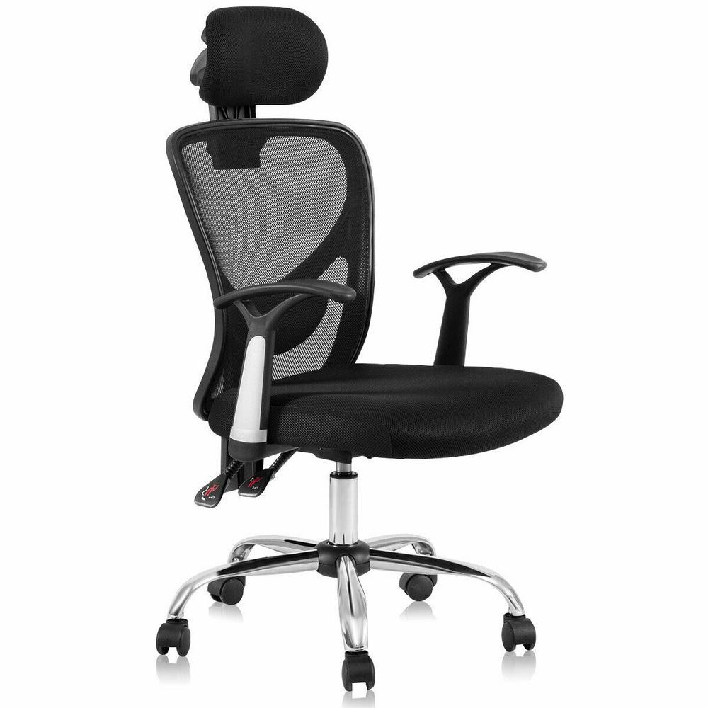 Ergonomic Mesh High Back Office Chair Computer Desk Task Executive Chair with Headrest Black