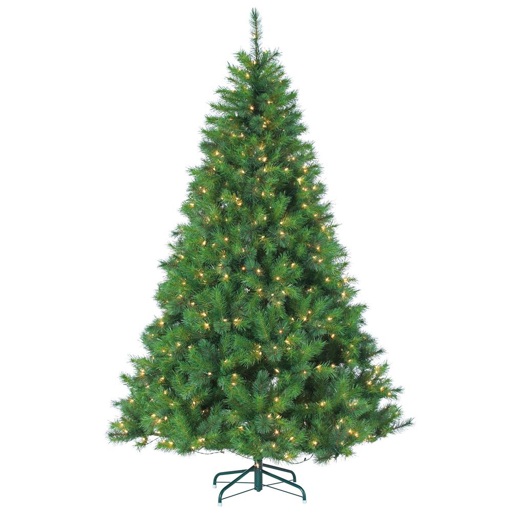 Sterling 7.5 ft. Pre-Lit Mixed Needle Wisconsin Spruce Artificial ...