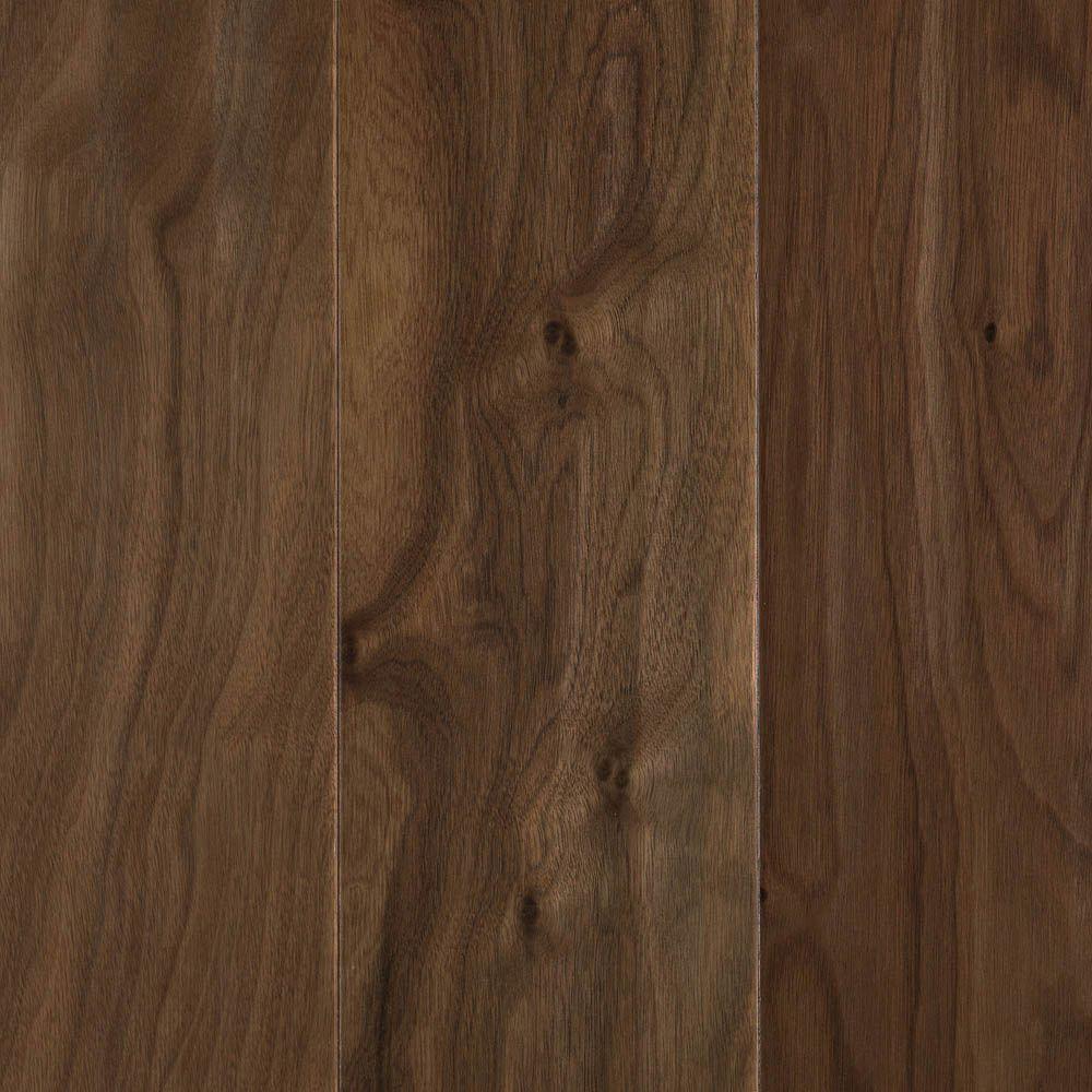 Mohawk Natural Walnut 3/8 in. T x 5.25 in. Wx Random Length Soft Scraped Engineered UNICLIC Hardwood Flooring(22.5 sq.ft./case)