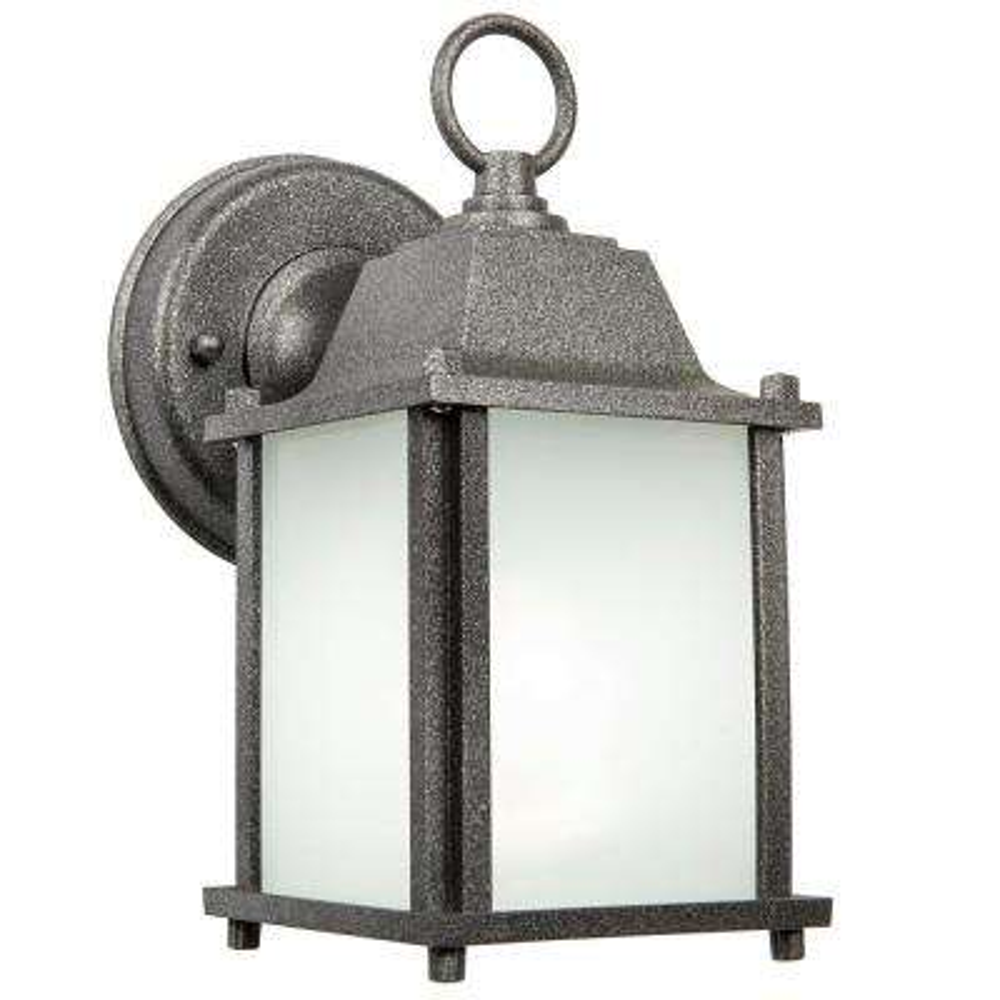 Turner 1-Light Satin Nickel Outdoor Wall Coach Light Sconce