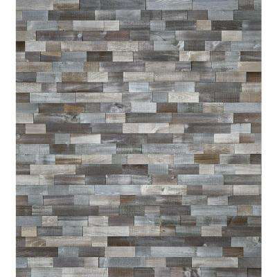 DecoWall Silver Fox 3/8 in. T x 12 in. W x 21.5 in. L Peel & Stick Solid Hardwood Flooring (5.4 sq. ft. / case)