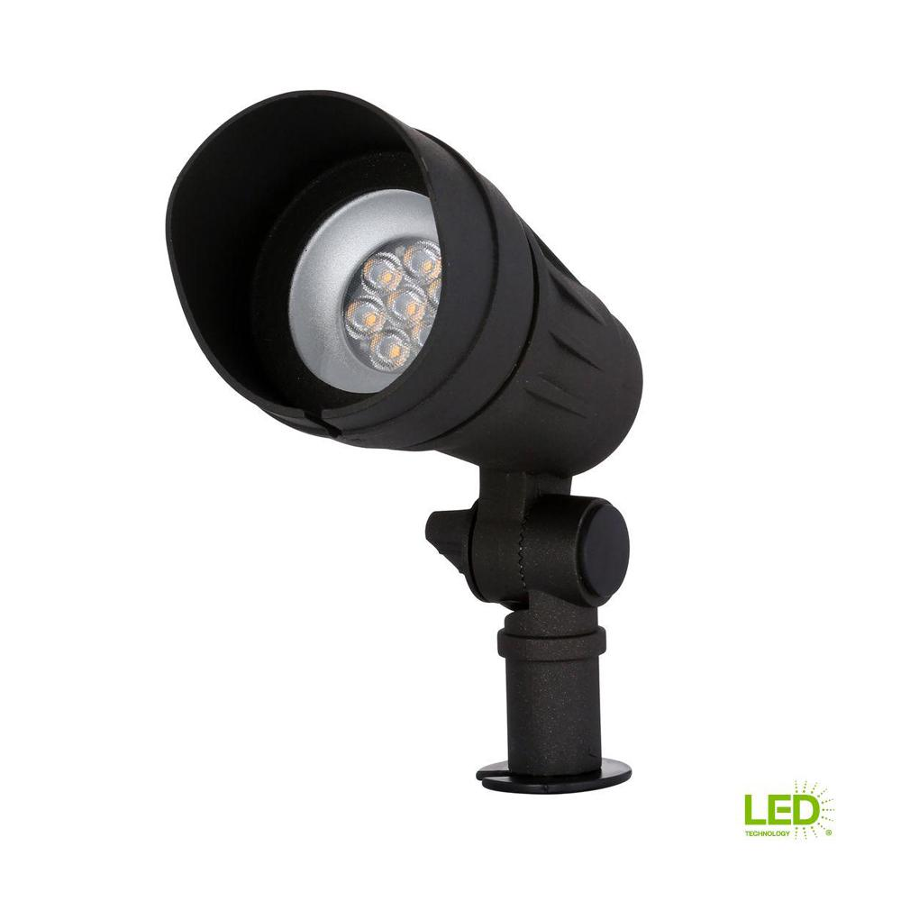 Hampton Bay Low Voltage 50 Watt Equivalent Black Outdoor Integrated This Flash Circuit Is A Typical Camera Led Landscape Spot Light Iwh2301ll The Home Depot
