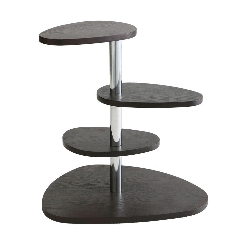 Southern Enterprises Espresso 4-Tier End Table-DISCONTINUED