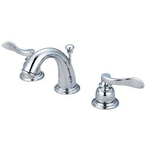 Kingston Brass 4 in. Minispread 2-Handle Low-Arc Bathroom Faucet in ...