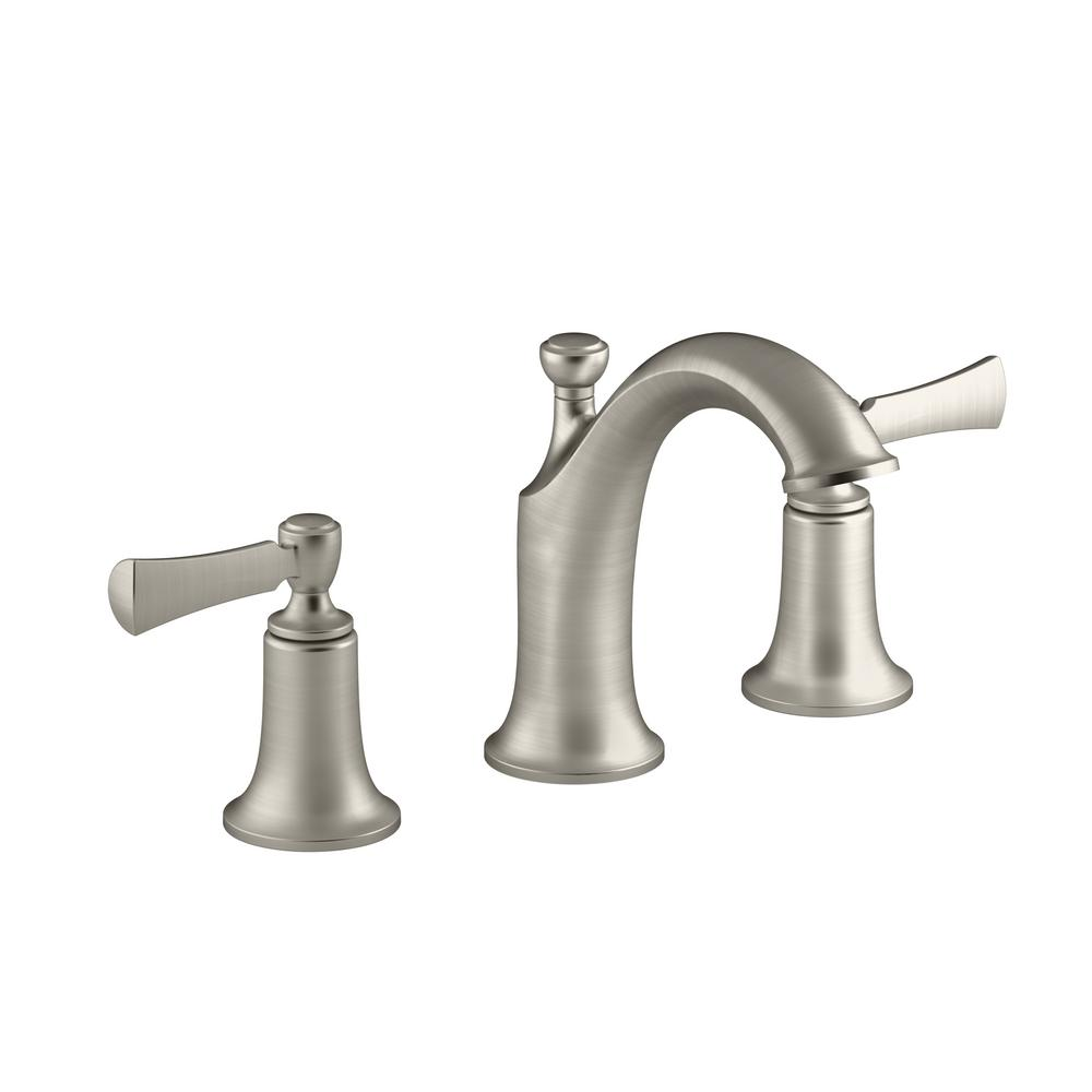 KOHLER Elliston 8 in. Widespread 2-Handle Bathroom Faucet in Brushed Nickel