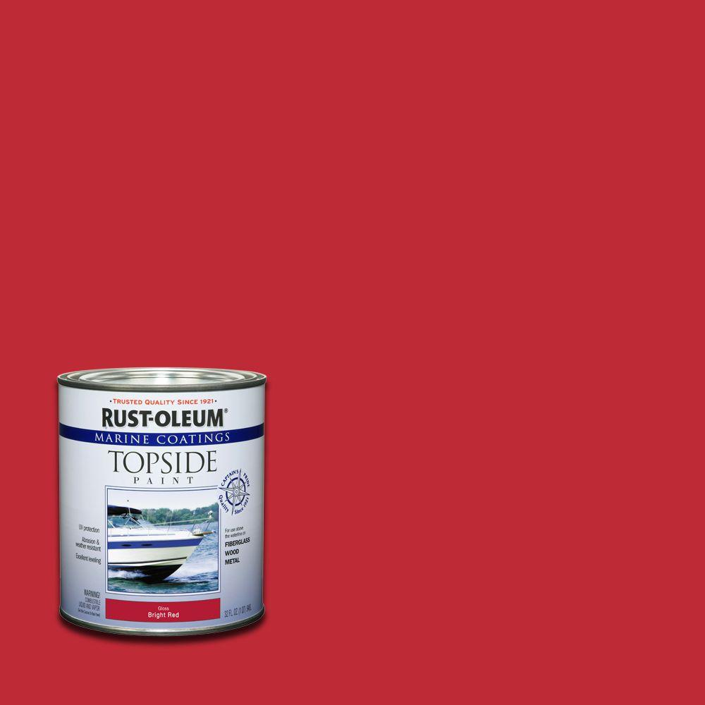 Rust-Oleum Marine 1 qt. Gloss Red Topside Coatings Paint (Case of 4)