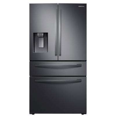 23 cu. ft. 4-Door French Door Refrigerator in Fingerprint Resistant Black Stainless, Counter Depth