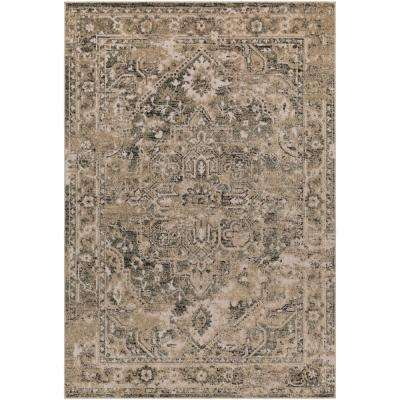 Mathilde Khaki 5 ft. x 7 ft. Indoor/Outdoor Area Rug