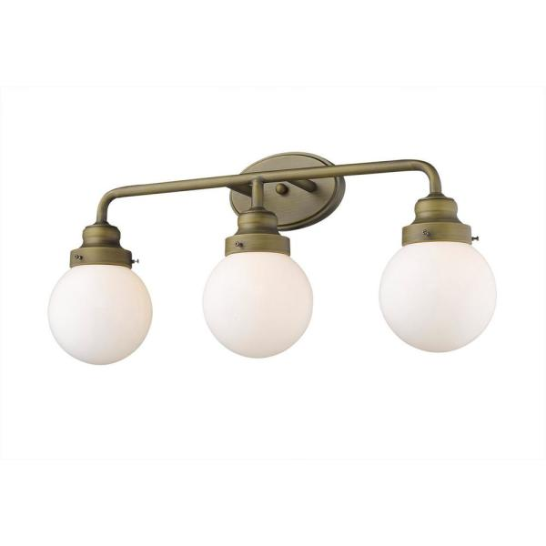 Portsmith 3-Light Raw Brass Vanity