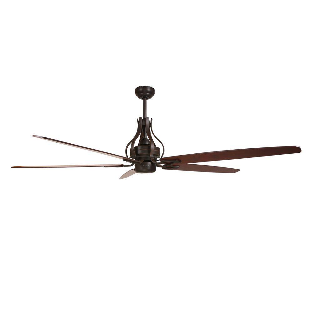 70 in. Oil Rubbed Bronze Ceiling Fan with 80 in. Lead Wire