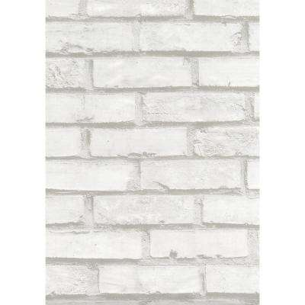 Brick White Wall Adhesive Film (Set of 2)