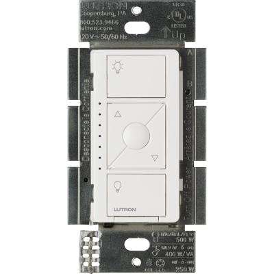 Caseta Wireless Electronic Low-Voltage In-Wall Dimmer, White