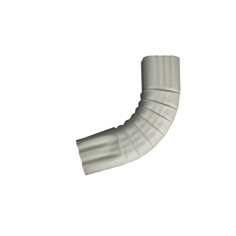 2 in, x 3 in. Linen Aluminum Downpipe - A Elbow