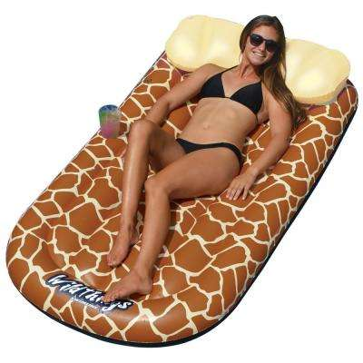70 in. x 36 in. WildThings Giraffe Lounge Pool Float