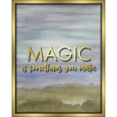 """16 in. x 20 in. """"Magic Is Something You Make-Blue"""" Shadowbox Wall Art"""