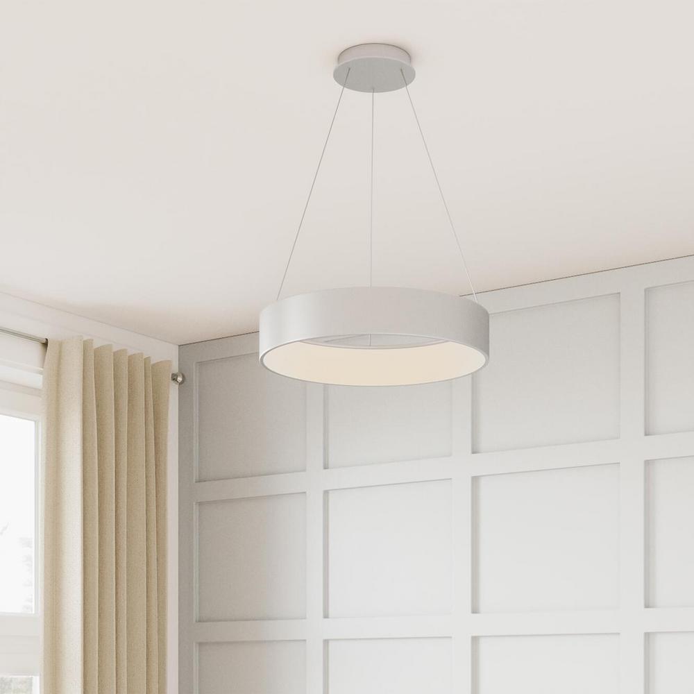 Hollandale 100-Watt Equivalence Integrated LED White Pendant