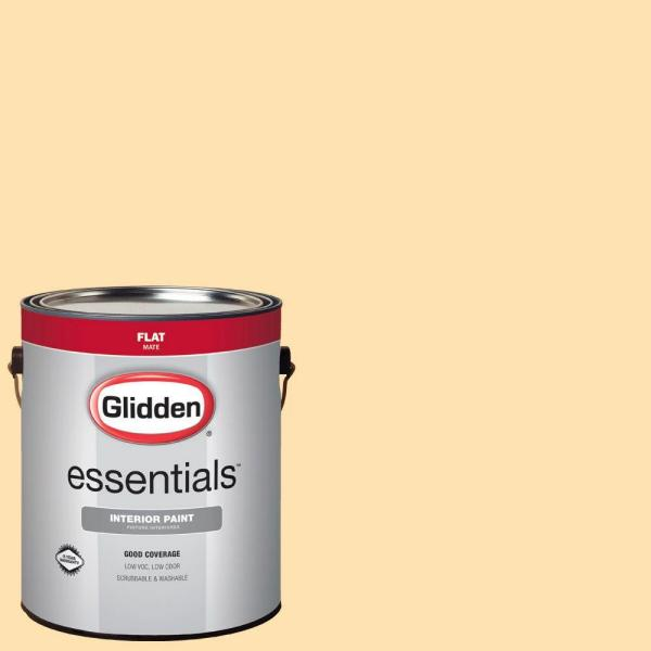 Glidden Essentials 1 gal. #HDGY03 Frosted Lemon Flat Interior Paint