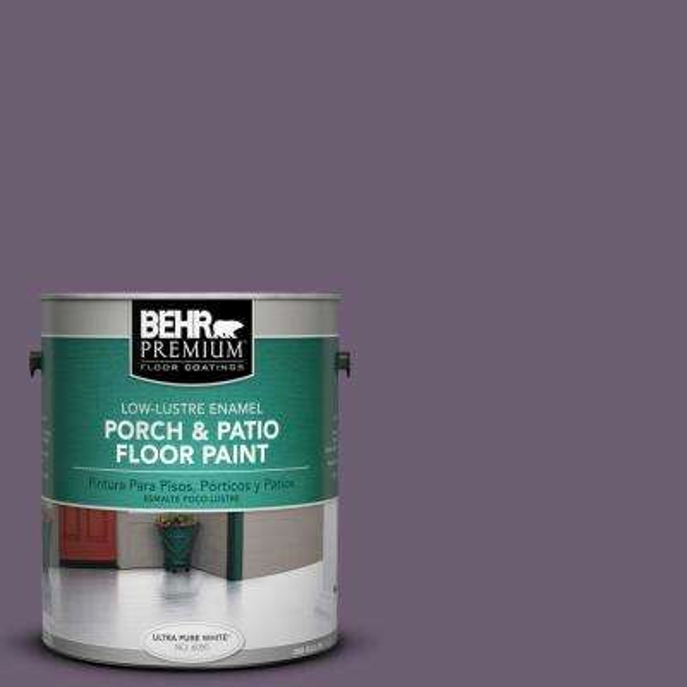 1 gal. #S100-6 Blackberry Jam Low-Lustre Porch and Patio Floor Paint