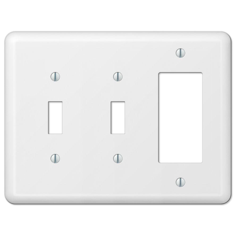 Devon 2 Toggle 1 Decorator Wall Plate - White
