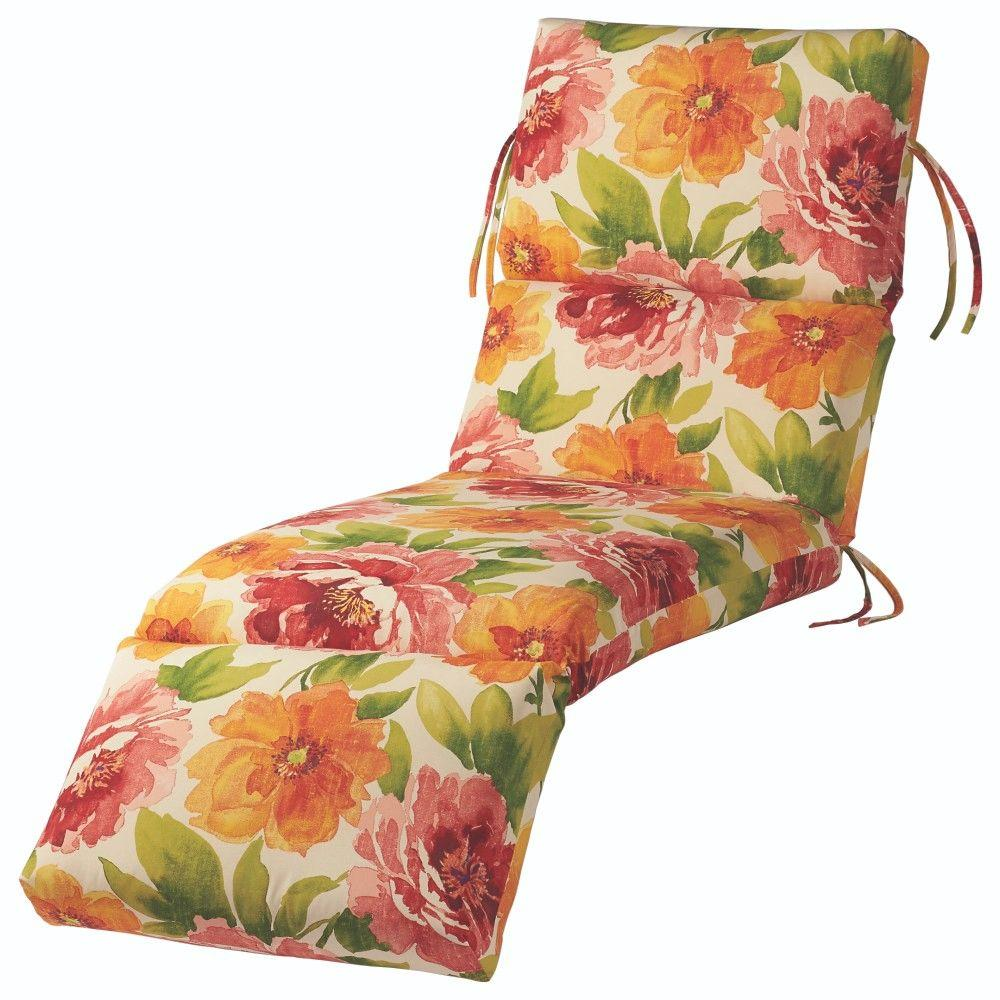 Home decorators collection muree primrose outdoor chaise for Bullnose chaise outdoor cushion