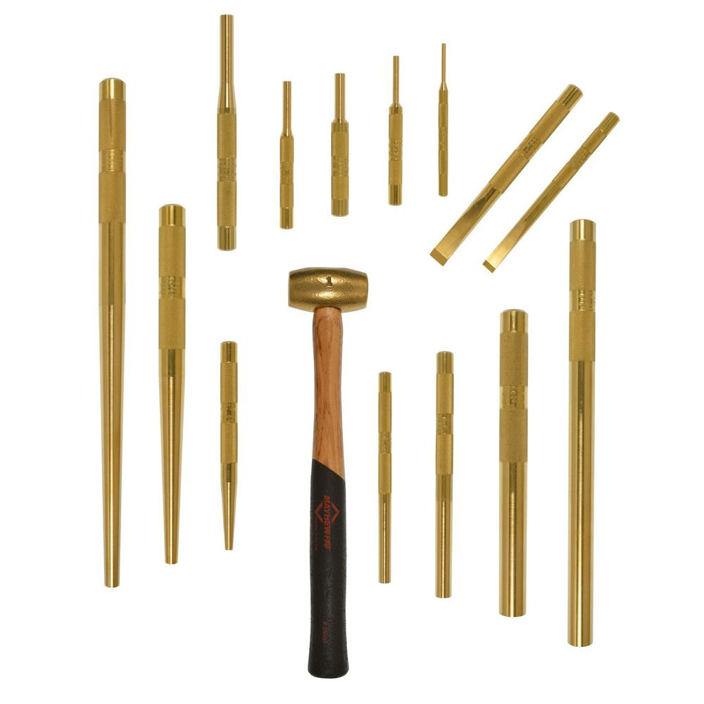 Mayhew Brass Punch and Scraper Set (15-Piece)