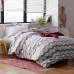 Lacey 3-Piece 200-Thread Count Cotton Percale Full Duvet Cover Set
