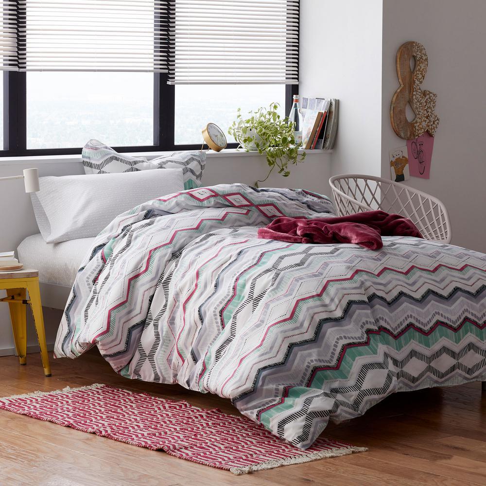 Lacey 200-Thread Count Cotton Percale Duvet Cover Set