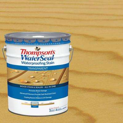 5 gal. Transparent Harvest Gold Waterproofing Stain Exterior Wood