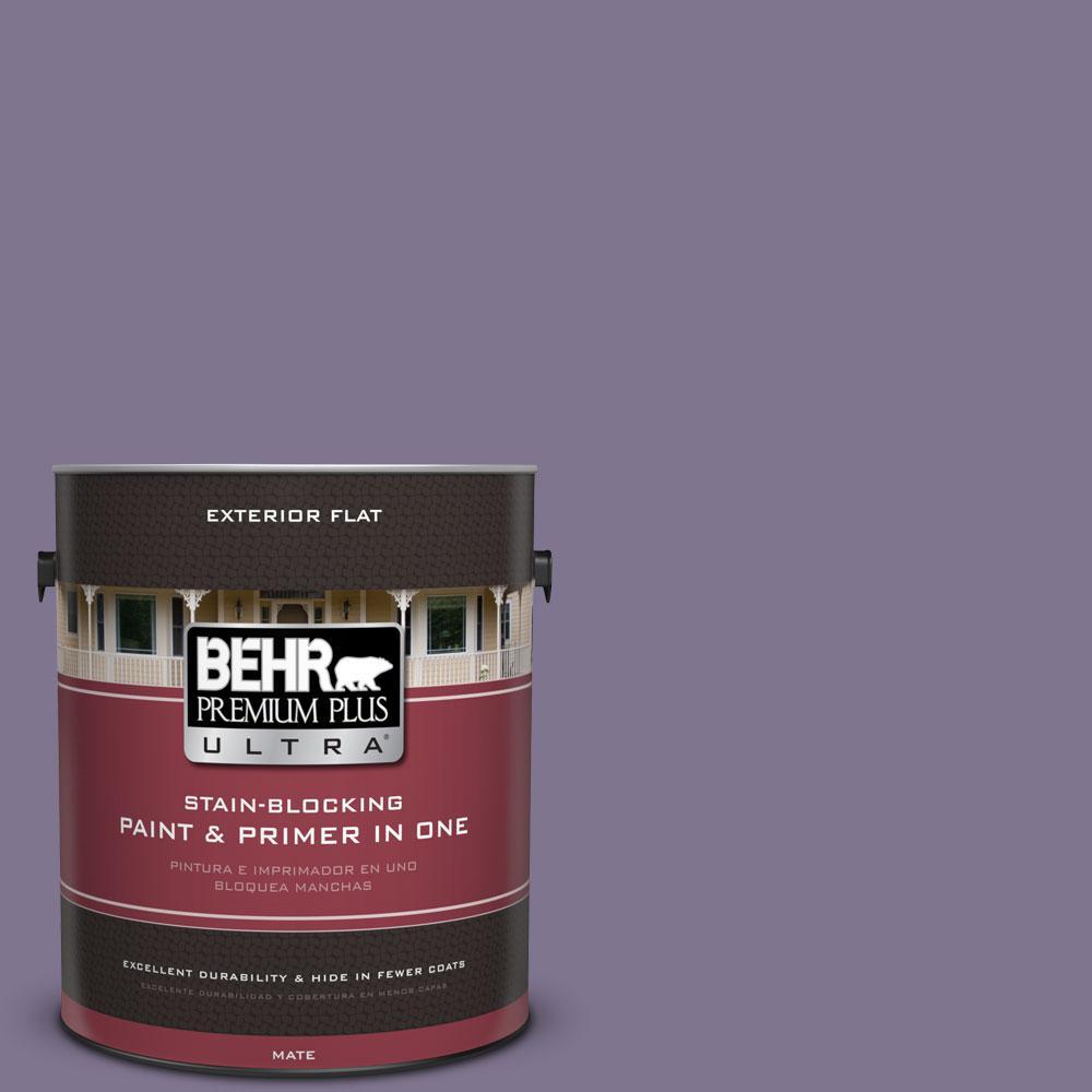 BEHR Premium Plus Ultra 1-gal. #650F-5 Purple Statice Flat Exterior Paint