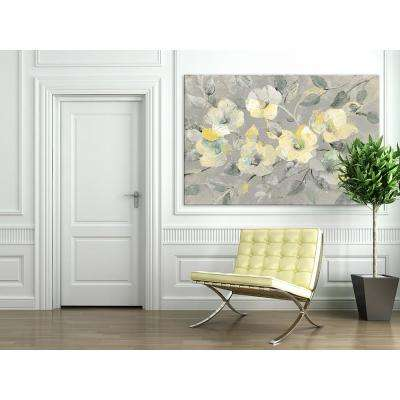 "48 in. x 72 in. ""Fading Spring Gray"" by Albena Hristova Printed Framed Canvas Wall Art"