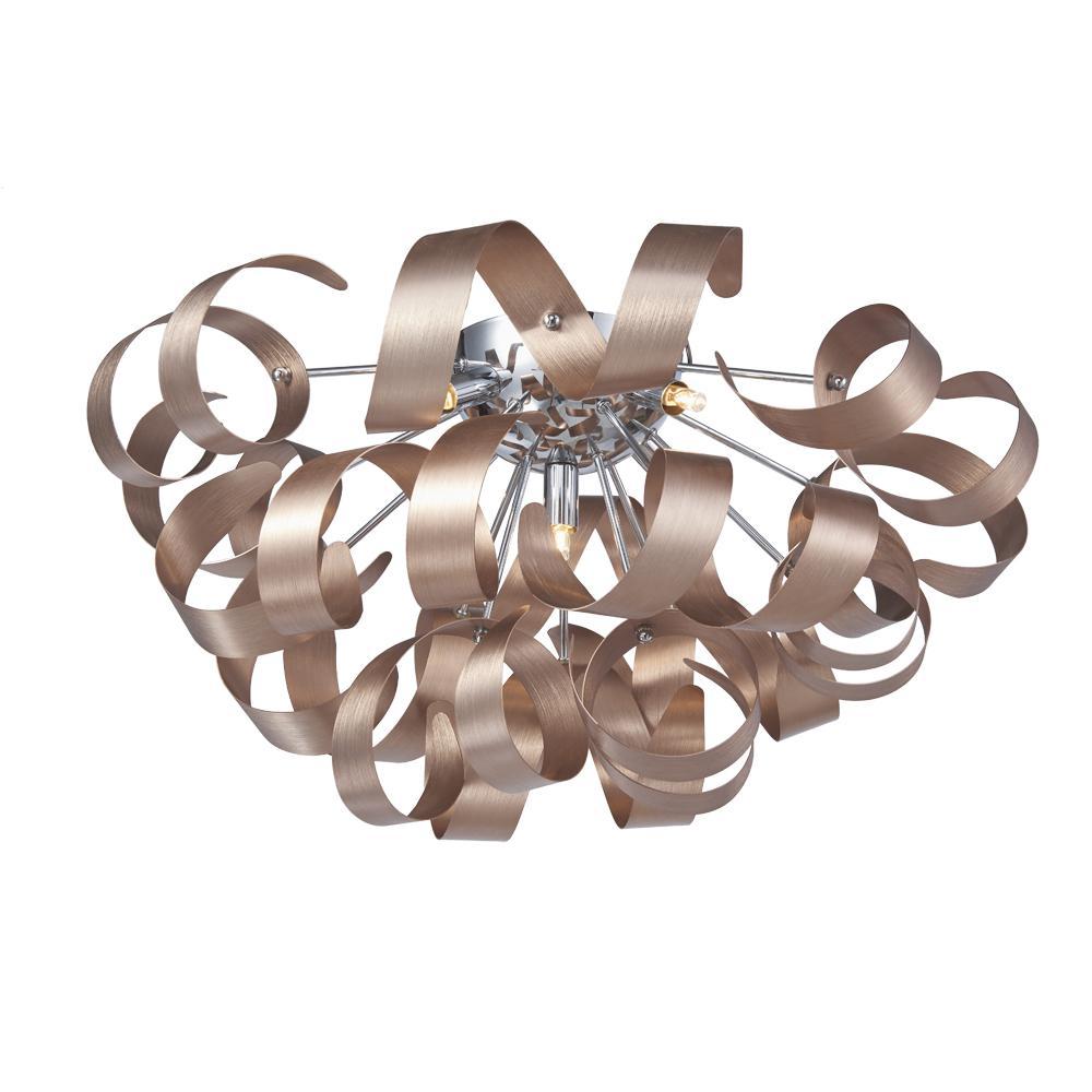 5-Light Copper Flushmount