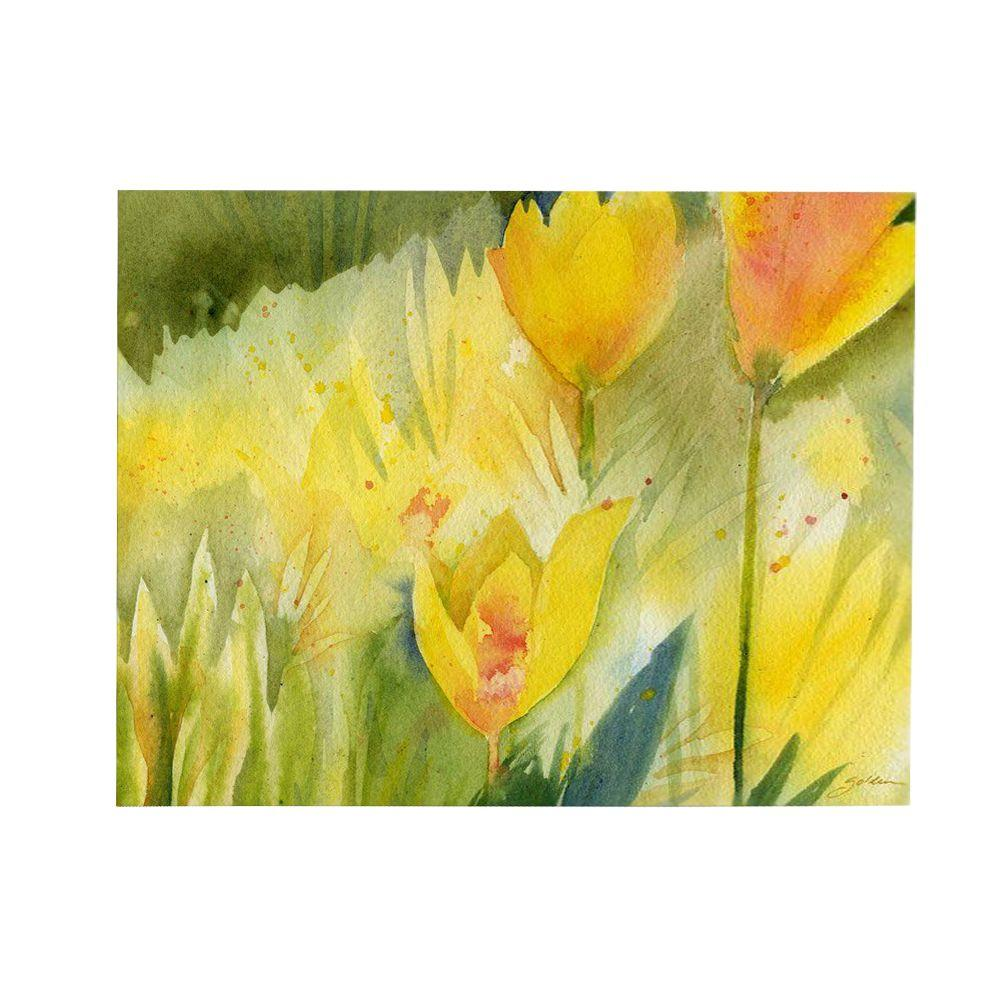 26 in. x 32 in. Path of Yellow Flowers Canvas Art
