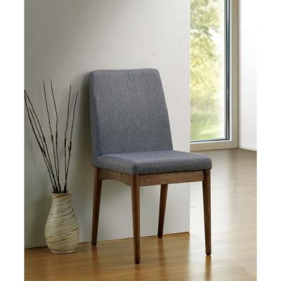 Eindride Natural Tone and Gray Mid-Century Modern Style Side Chair