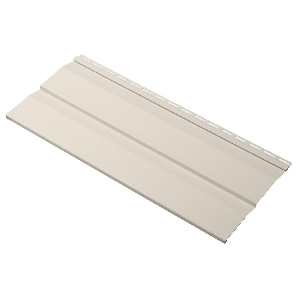 Cellwood Progressions Double 5 in. x 24 in. Dutch Lap Vinyl Siding Sample in Almond