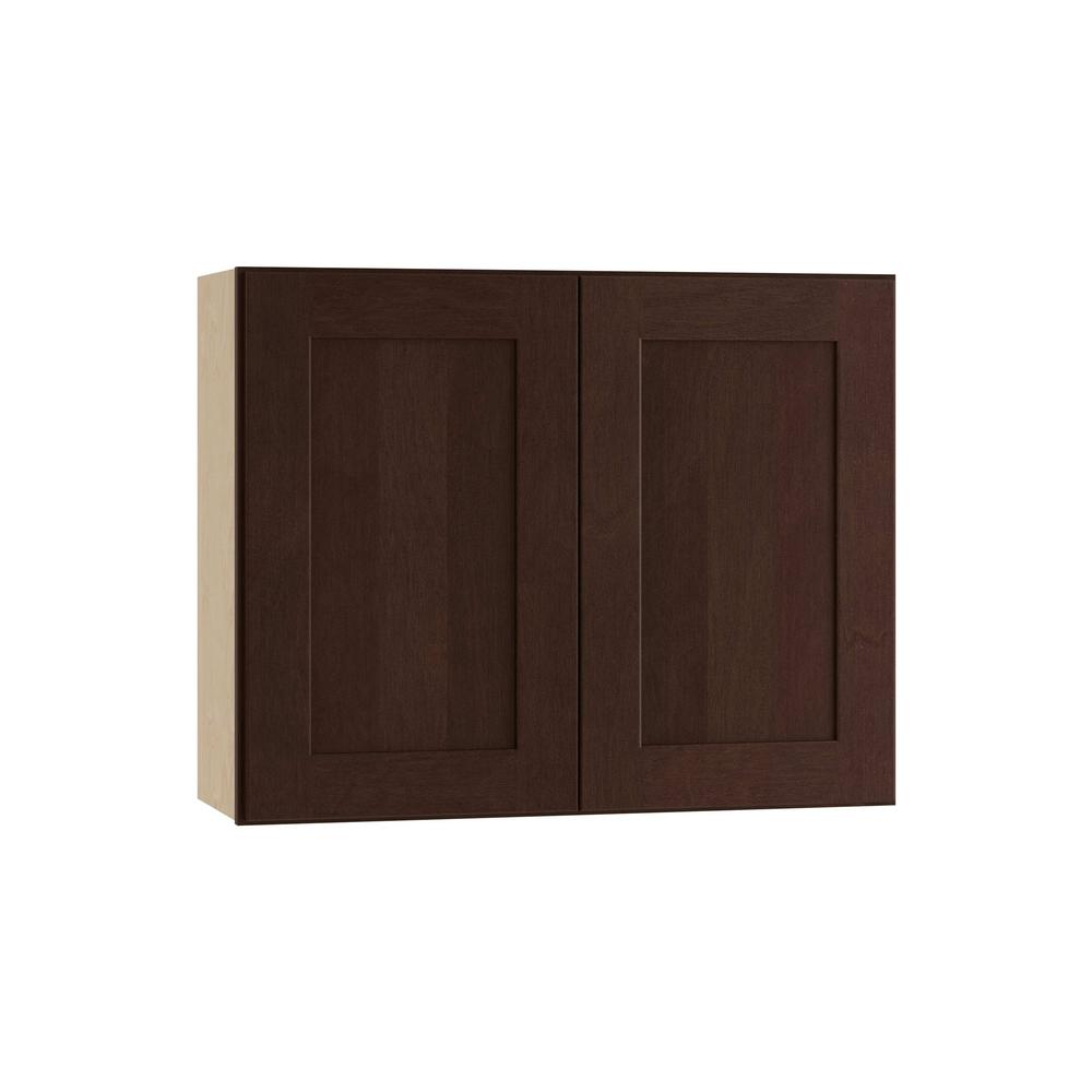 Franklin Assembled 30x18x12 in. Wall Double Door Cabinet in Manganite Glaze
