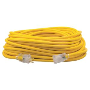 Southwire 100 ft. 12/3 SJEOW Outdoor Heavy-Duty T-Prene Extension Cord with... by Southwire