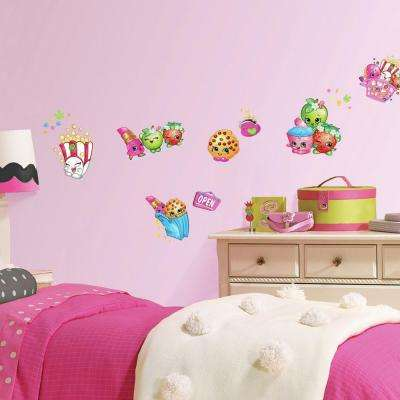 5 in. W x 11.5 in. H Shopkins 39-Piece Peel and Stick Wall Decal